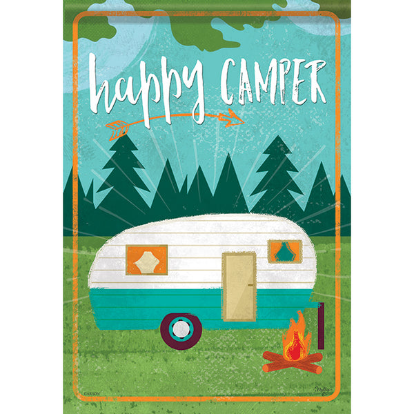 """Happy Camper"" Garden Dura Soft™ Flag"