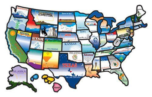 United States Travel Map Stickers