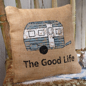The Good Life Burlap Pillow