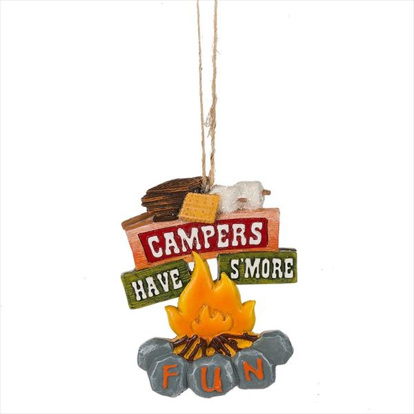 """Campers Have S'more Fun"" Campfire Ornament"