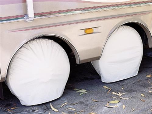 ADCO Ultra Tyre Gards Single Tire Covers - Set of 2 (White)