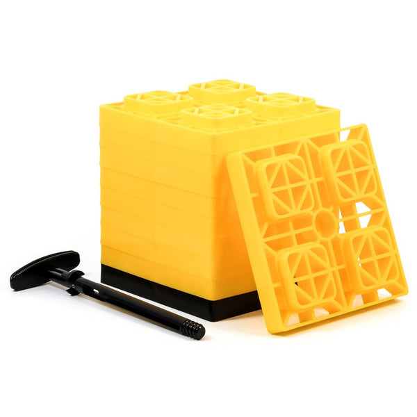 "Camco 2""x2"" FasTen Leveling Blocks with T-Handle"