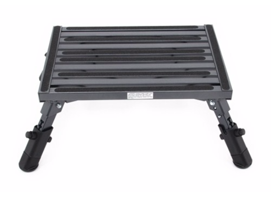 "Adjustable-Height, Folding Platform Step - Aluminum - 19"" Long x 14"" Wide - 1,000 lbs"