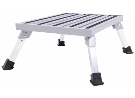 "Camco Fixed Height Platform Step - Aluminum 19"" Long x 14-1/2"" Wide - 1,000 lbs"