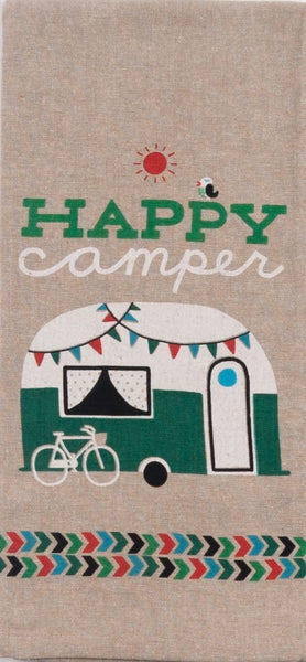 Happy Camper Tea Towel