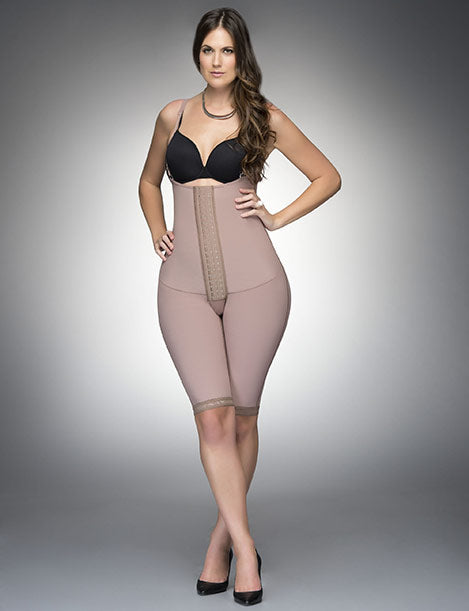 Fajas Diseño de Prada  Ref 11105 Strapless Body Girdle W/Front Panel to the Knee