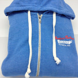 Boston Harbor - Zip Up Sweatshirt - Light Blue