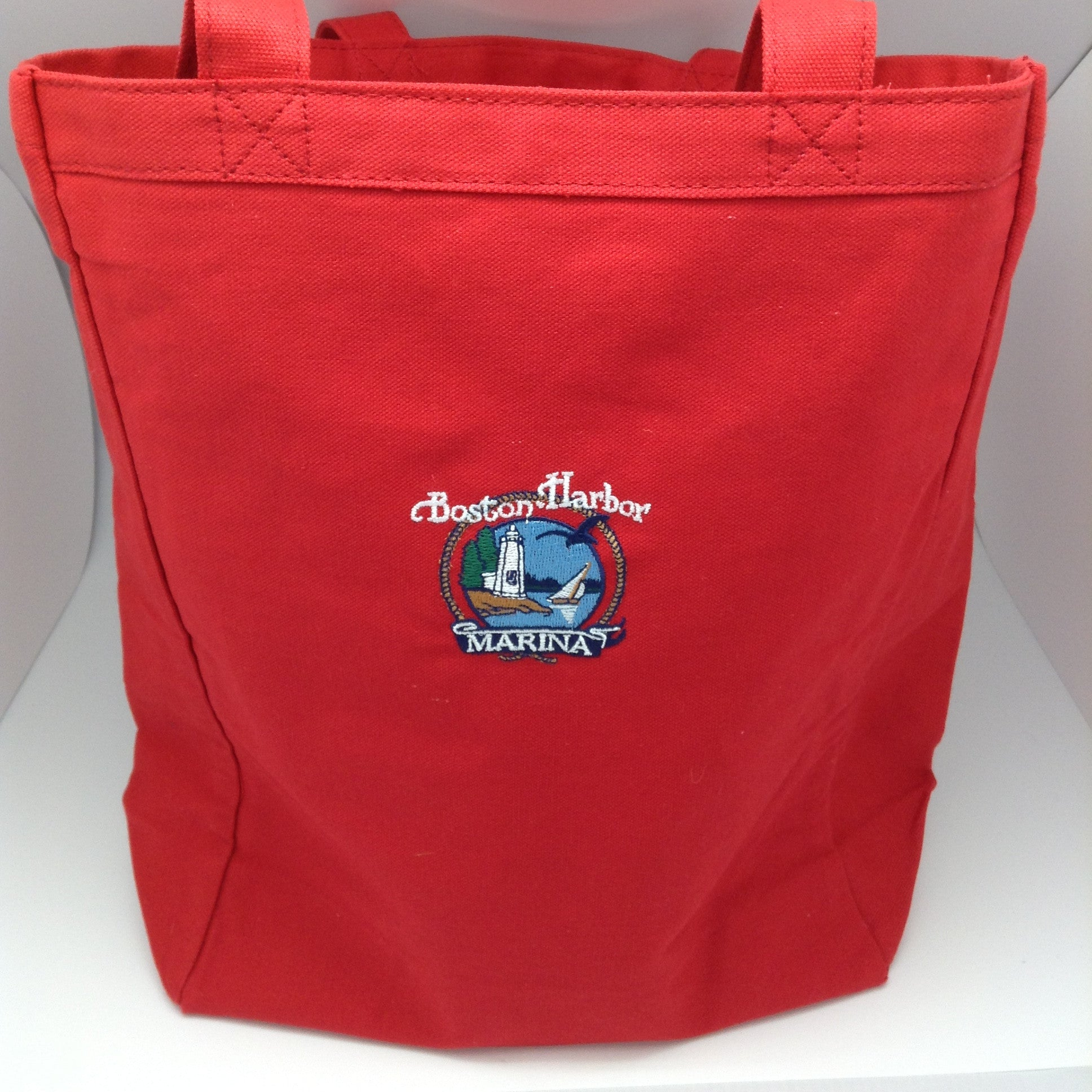 Boston Harbor - Canvas Tote - Red