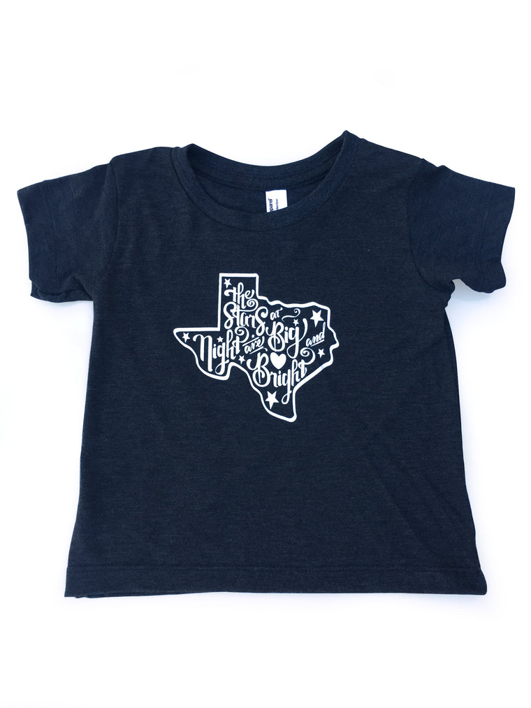 Stars At Night Tri-Black Baby Tee