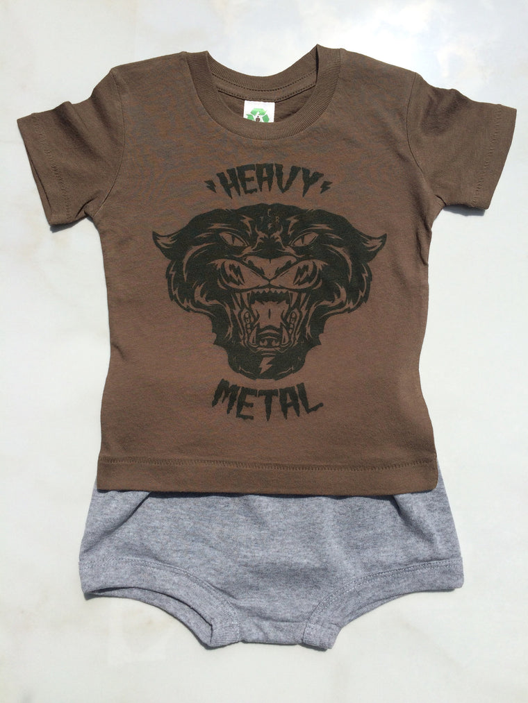 Organic Heavy Metal Tee & Shorts