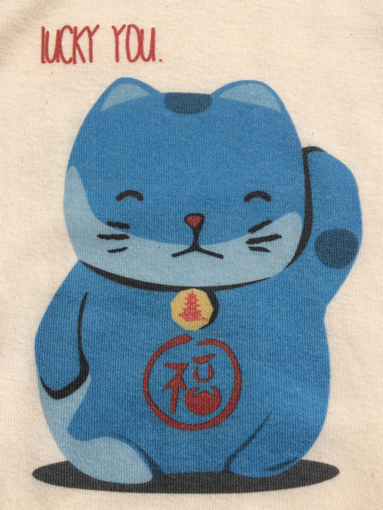 Organic Lucky Cat Bodysuit