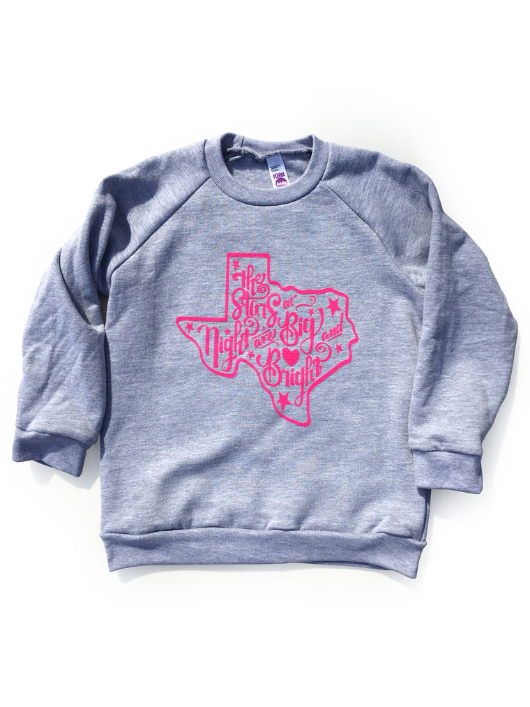 Stars At Night Pink Fleece Raglan