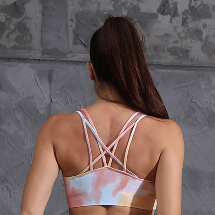Seamless Tie-dyed High Waist Tight Sports Suit