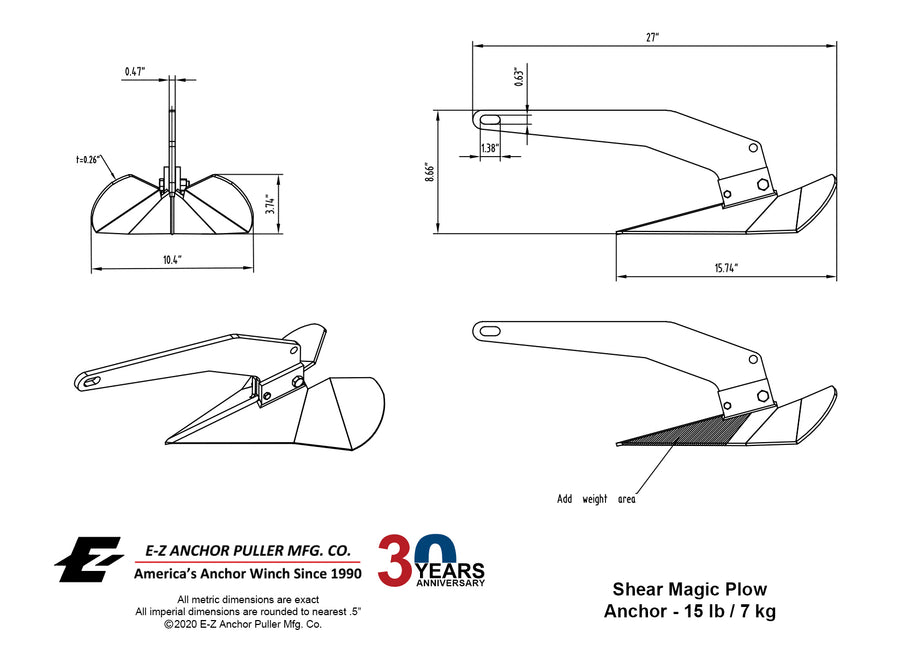 Shear Magic GP Anchor - 15 lb / 7 kg