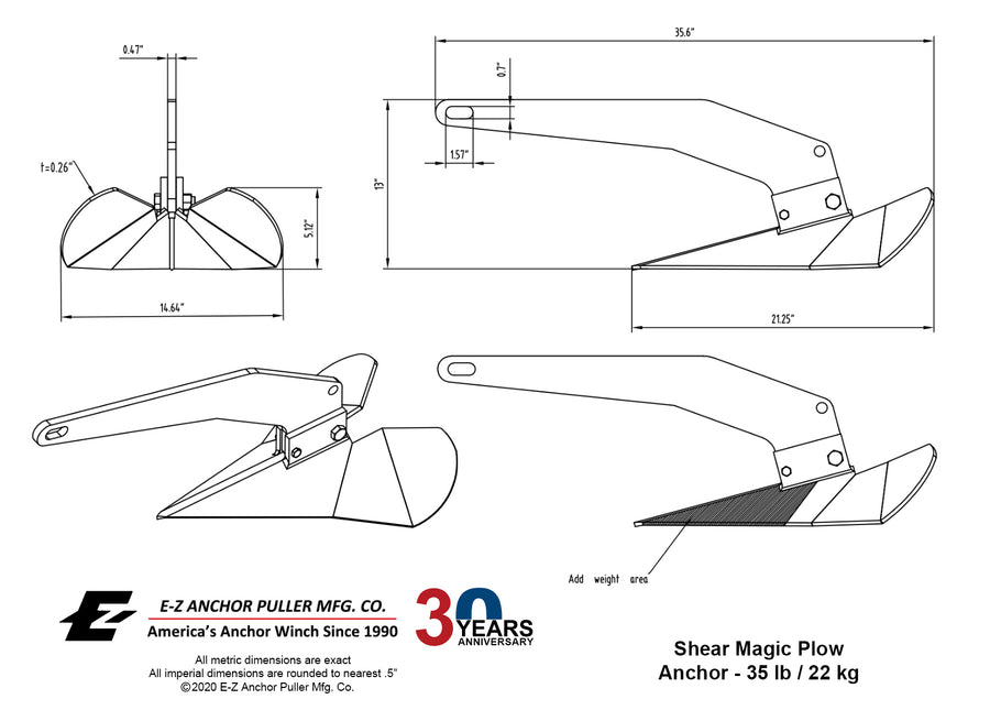 Shear Magic GP Anchor - 35 lb / 16 kg