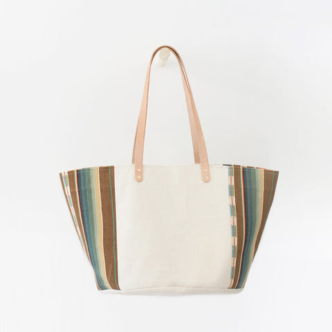 Natural Canvas Bucket Tote | Orange