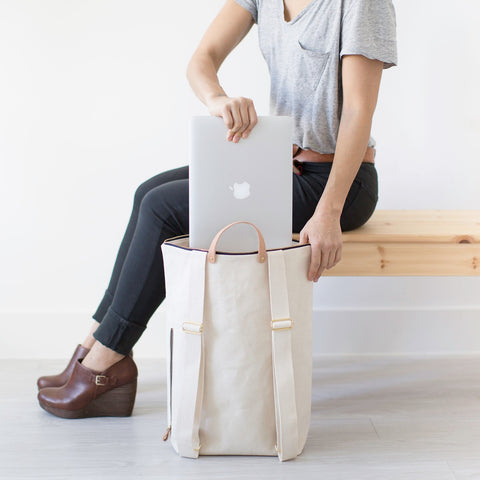 Minimalist Canvas Day Pack | Natural