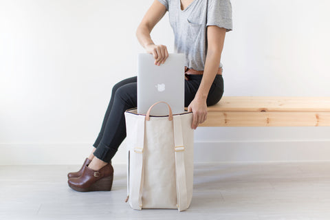 Minimalist Midnight Canvas Day Pack