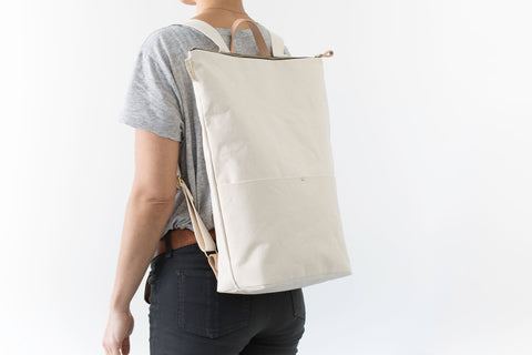 Minimalist Natural Canvas Day Pack