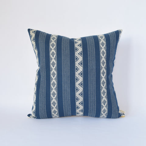 Natural Canvas Throw Pillow | Indigo