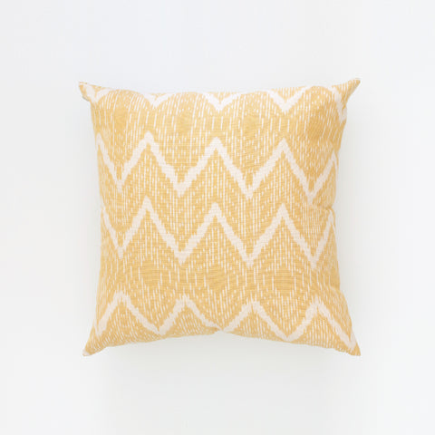 Natural Canvas Throw Pillow | Marigold Ikat