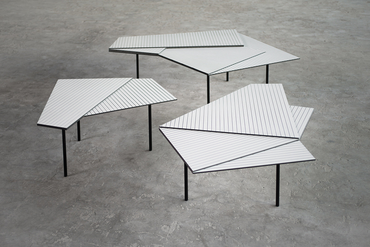 RAIN, edition of low tables, Gallery Bensimon, 2014
