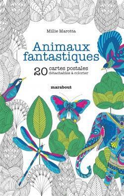 ANIMAUX FANTASTIQUES - 20 Colouring Postcards