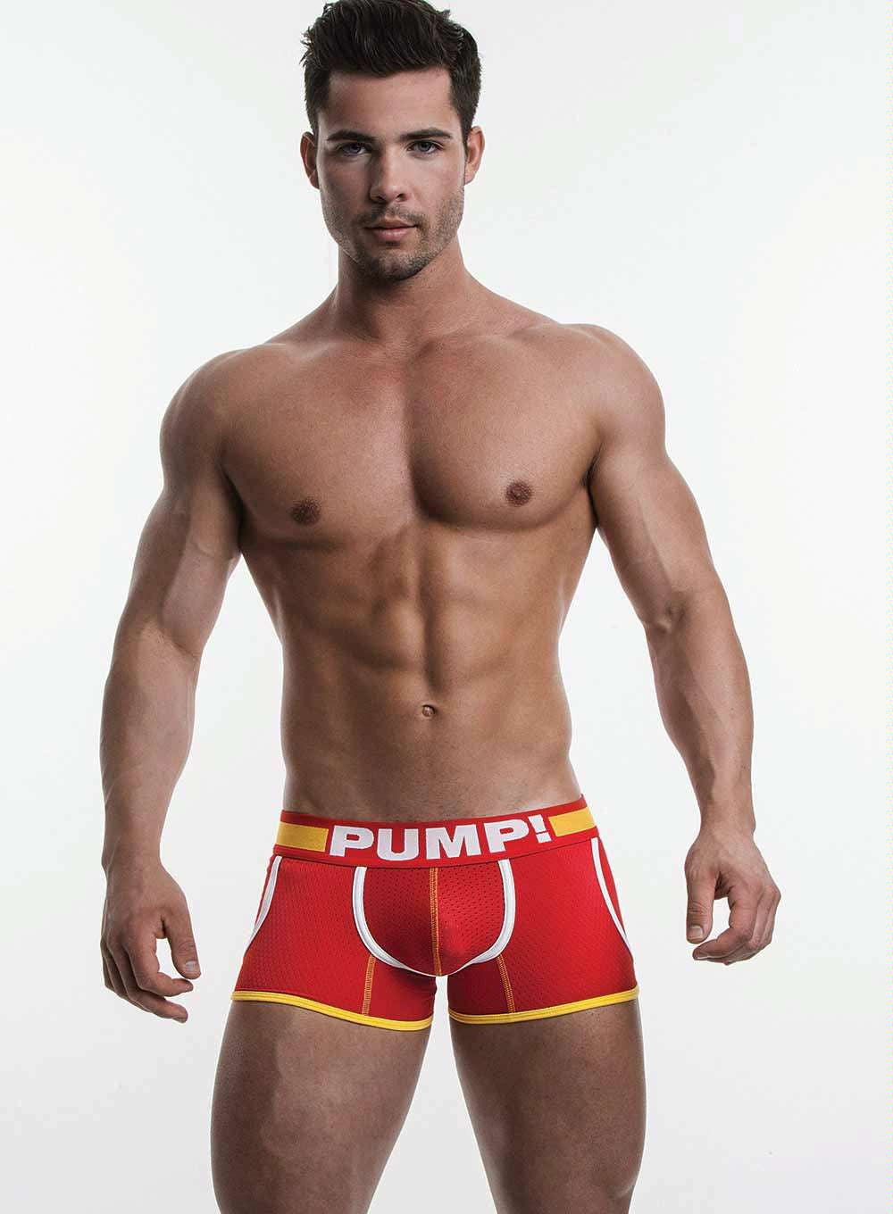 PUMP Flash Jogger mesh boxer red