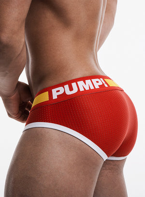PUMP Flash mesh brief red