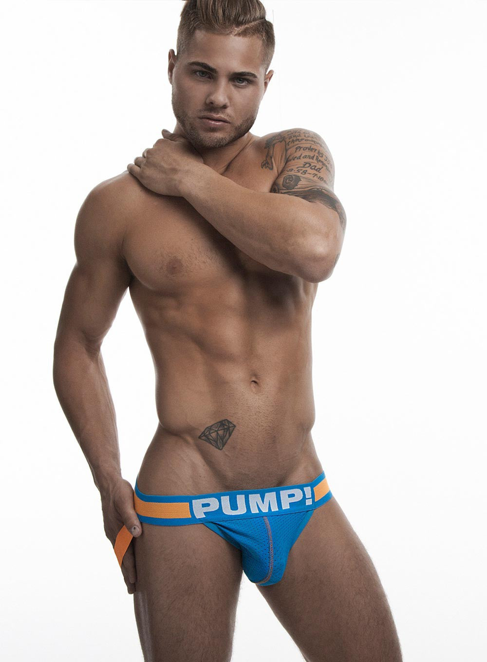 PUMP Cruise mesh jockstrap blue