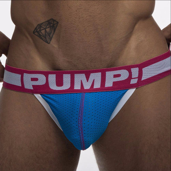 PUMP Sugar Rush mesh jockstrap blue