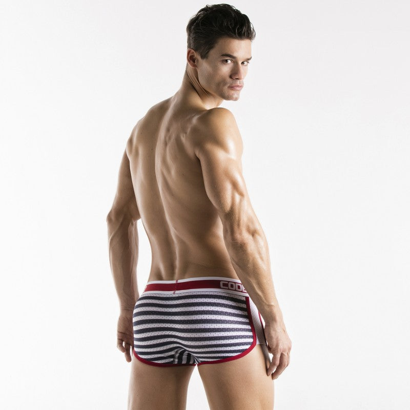Code 22 Naval boxer 1942 mesh navy/red