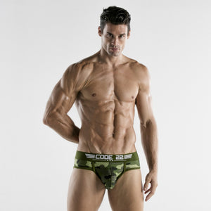 Code 22 Army brief 1971 mesh camouflage green