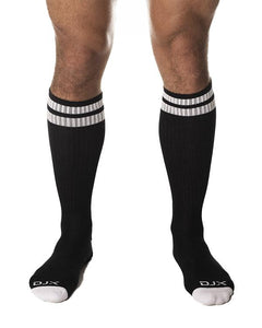 DJX Football socks black/white