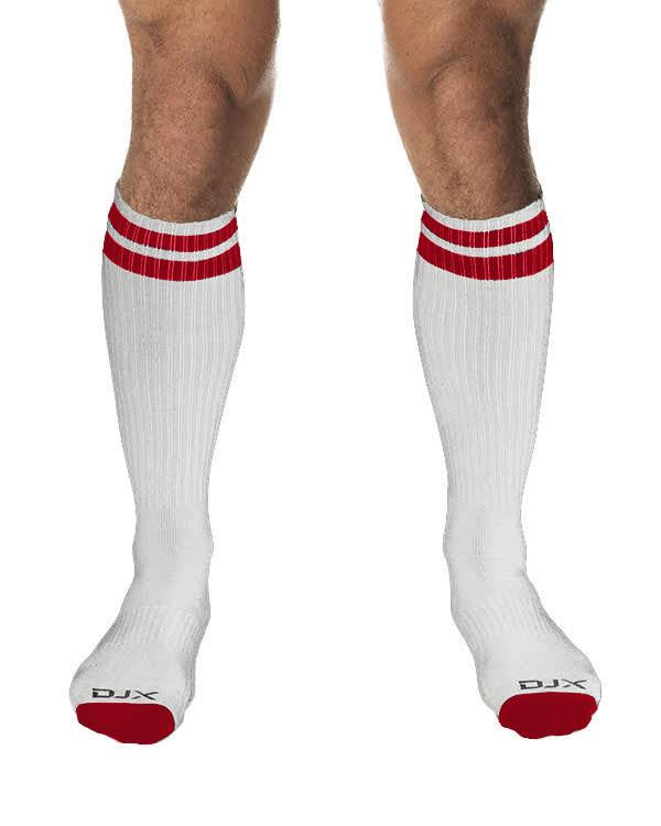 DJX Circuit socks white/red