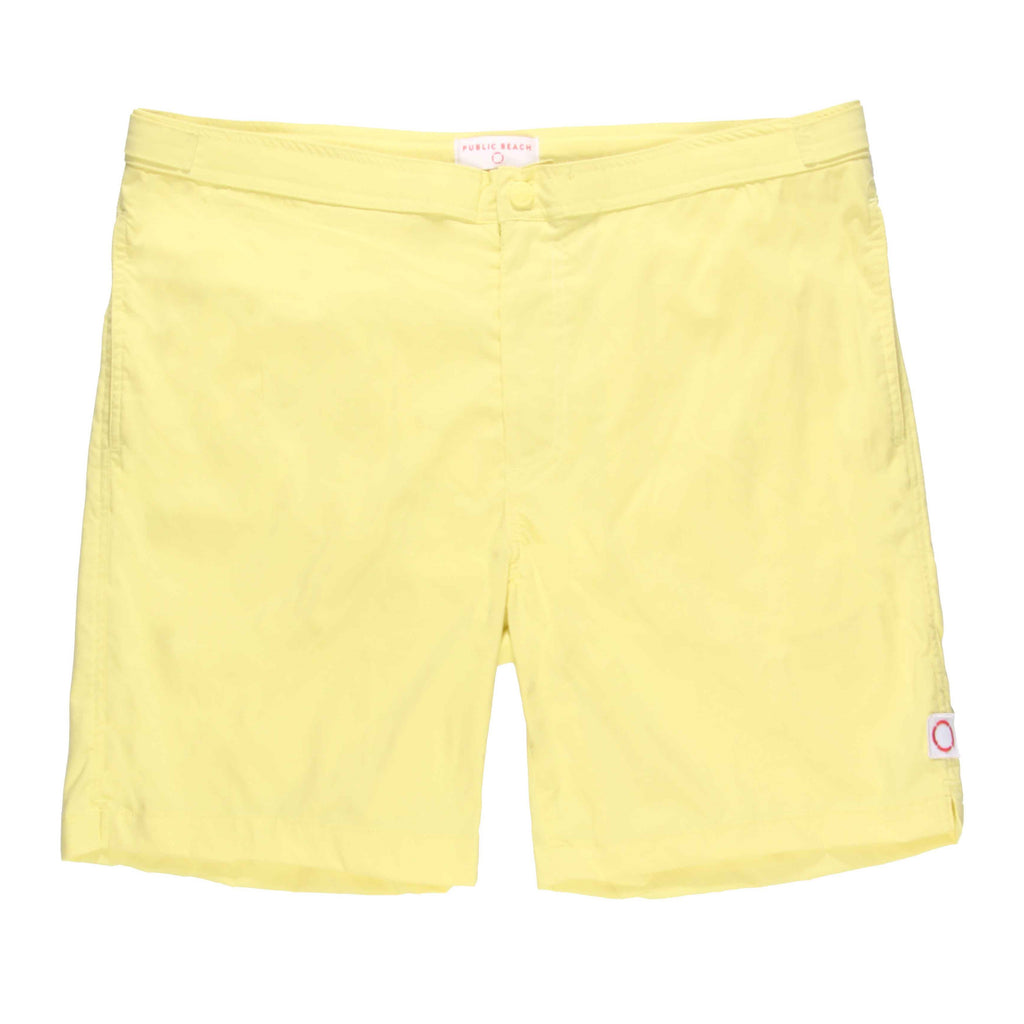 Public Beach 1602 swim short yellow
