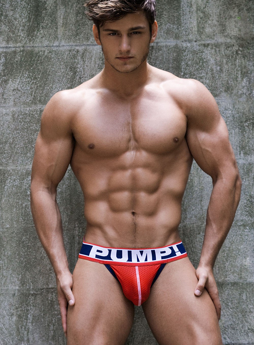 PUMP Fever mesh jockstrap red