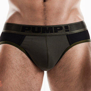PUMP Ribbed brief army green