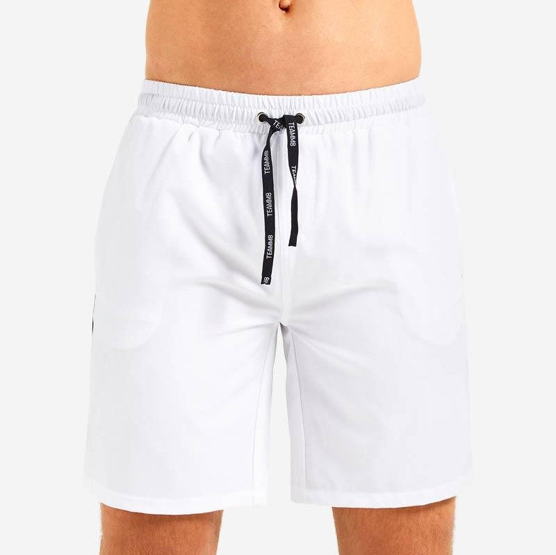 "Teamm8 Rally 8"" short white"
