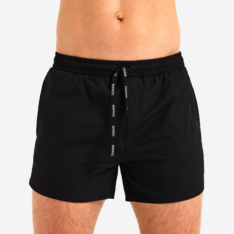 "Teamm8 Volley 4"" short black"