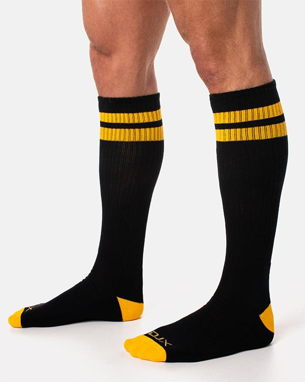 DJX Football socks black/yellow