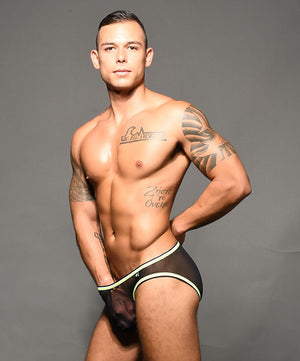 Andrew Christian Almost Naked 91832 brief mesh black