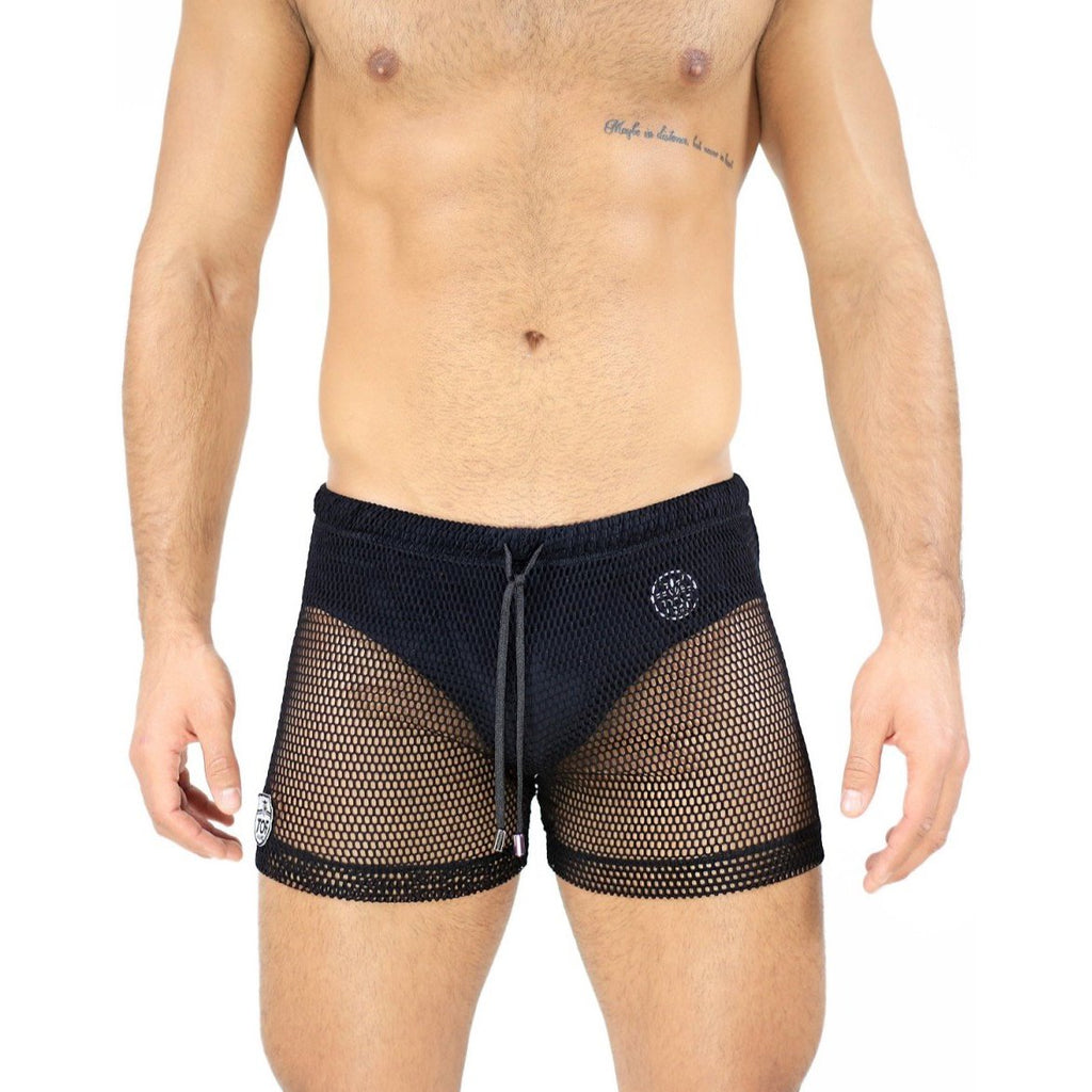 TOF Ibiza short mesh black