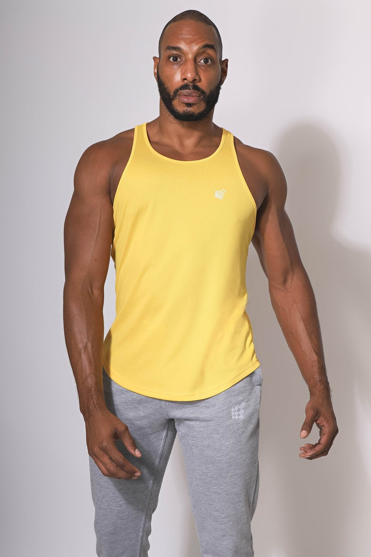 Jed North Microfiber Dri-fit tank yellow