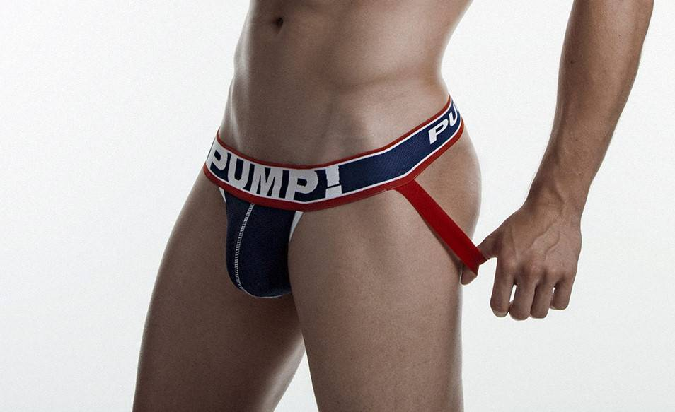 PUMP Big League mesh jockstrap navy