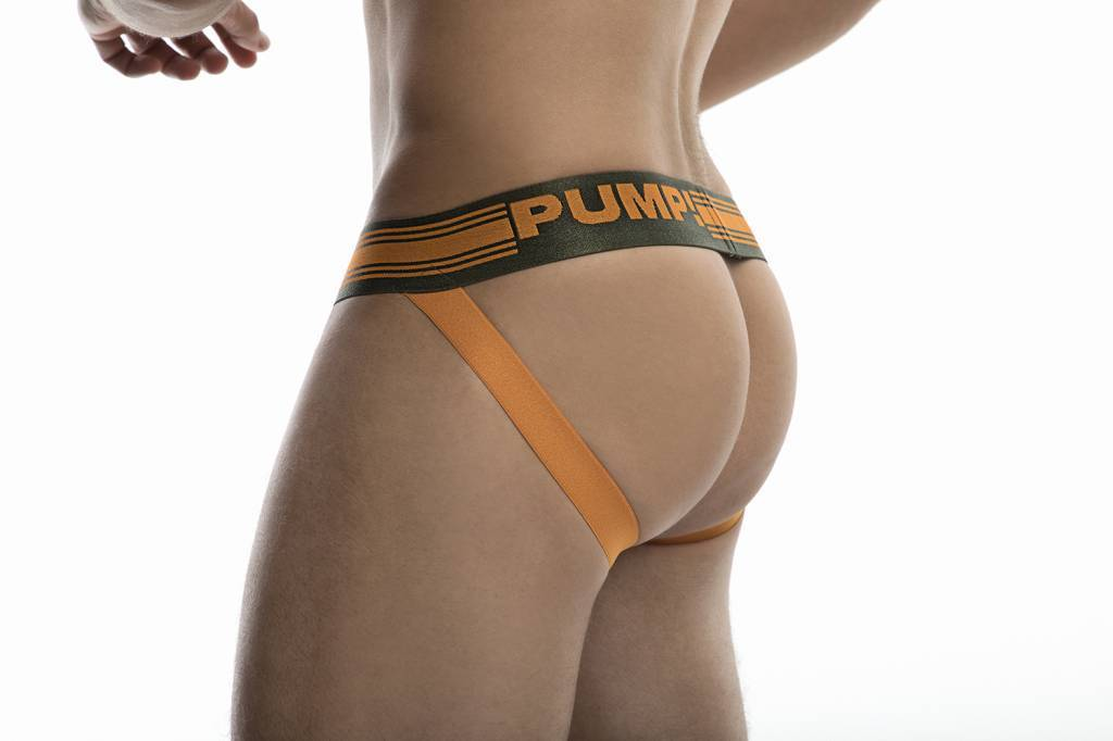 PUMP Squad jockstrap army green