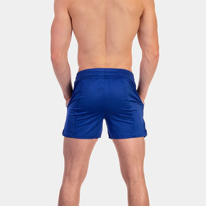 Barcode Berlin Luka mesh short blue