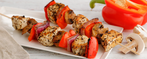GRILLED CHICKEN KABOBS FOR TURKEY TROT PLAN