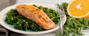 ZESTY SALMON WITH GREENS FOR TURKEY TROT PLAN