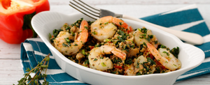 SHRIMP & QUINOA SKILLET FOR TURKEY TROT PLAN